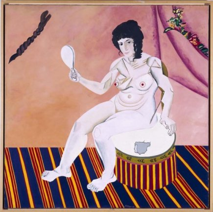 Eduardo Arroyo. España te Miró 1967. Óleo sobre lienzo, 150 x 150 cm