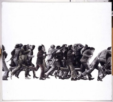 Juan Genovés. Pintura, 1975. Acrílico sobre lienzo, 125 x 140 cm.