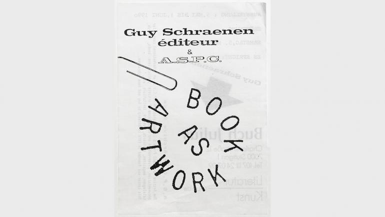 Logo y cabecera de Guy Schraenen éditeur. Diseñado por Guy Schraenen