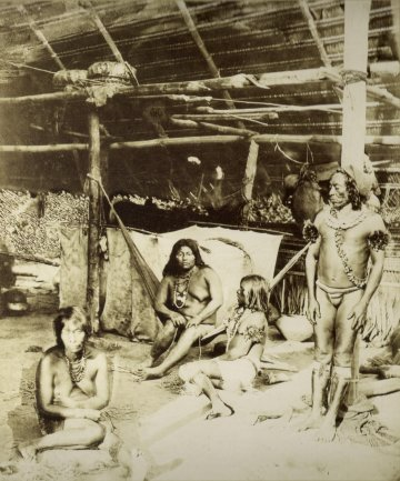 Albert Frisch. Indians in the Amazons. Photography, c. 1865