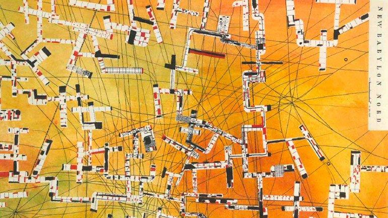Constant. New Babylon Nord, (detail). Plan, 1958