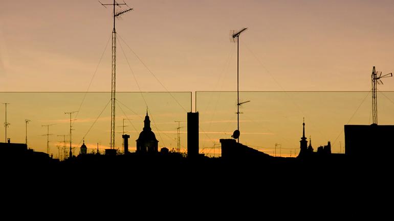 Vista del barrio de Lavapiés desde la terraza del Edificio Nouvel, Museo Reina Sofía. Fotografía: Joaquín Cortés