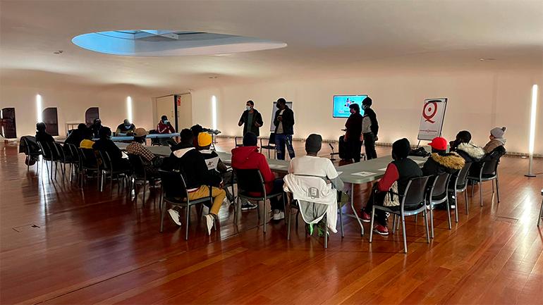 Jornada del taller de la Escuela de derechos, Museo Reina Sofía, 2020. Fotografía: Red Interlavapiés