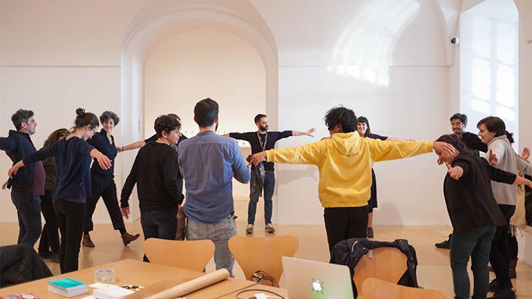 Escuela de la escucha. Museo Reina Sofía, 2018. Fotografía: Santi Piñol