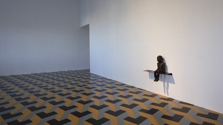 Vista de sala de la exposición Juan Muñoz. Retrospectiva, 2009