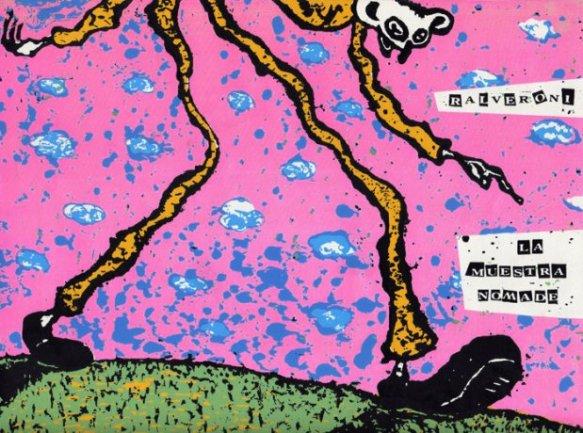 Ral Veroni. La Muestra Nómade, 1990-1991. Afiche