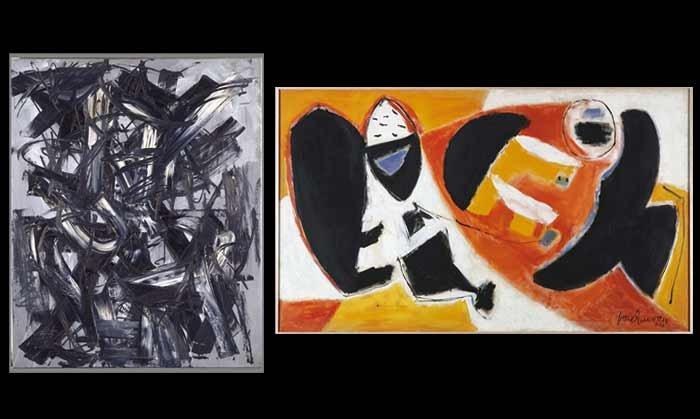 Antonio Saura. Dama / Lady, 1958 / José Guerrero. Black cries, 1953