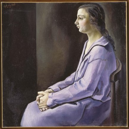 Salvador Dalí. Retrat de meva germana (Retrato de mi hermana), 1925. Óleo sobre lienzo. Museo Nacional Centro de Arte Reina Sofía