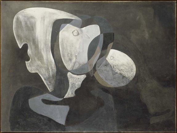 Salvador Dalí. Dues figures (Dos figuras), 1926. Óleo sobre lienzo. Museo Nacional Centro de Arte Reina Sofía