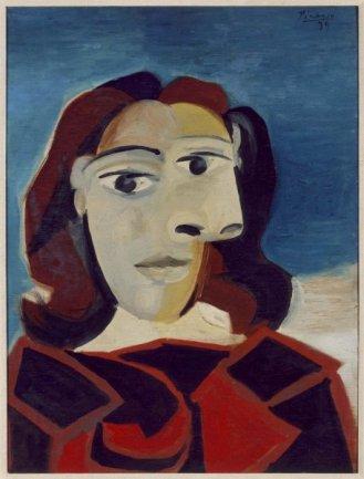 Pablo Picasso. Portrait de Dora Maar (Retrato de Dora Maar), 1939. Óleo sobre tabla. Museo Nacional Centro de Arte Reina Sofía