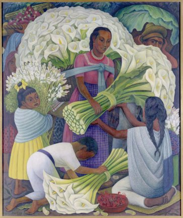 Diego Rivera. Vendedora de flores, 1949. Painting. Museo Nacional Centro de Arte Reina Sofía Collection, Madrid