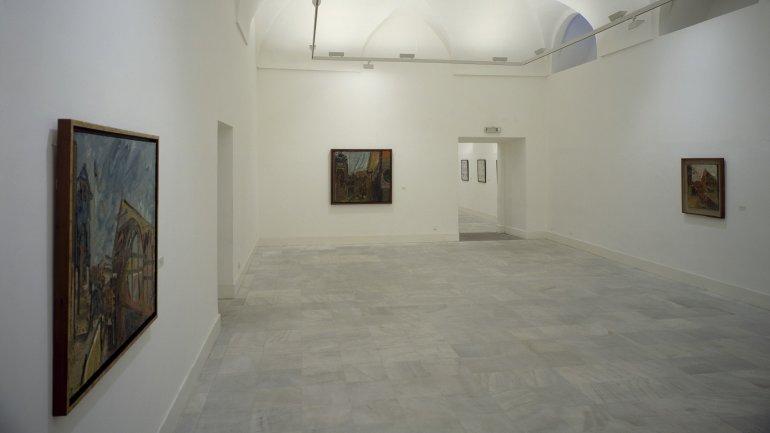 Exhibition view. Frank Auerbach, retrospective (1954-1985), 1987