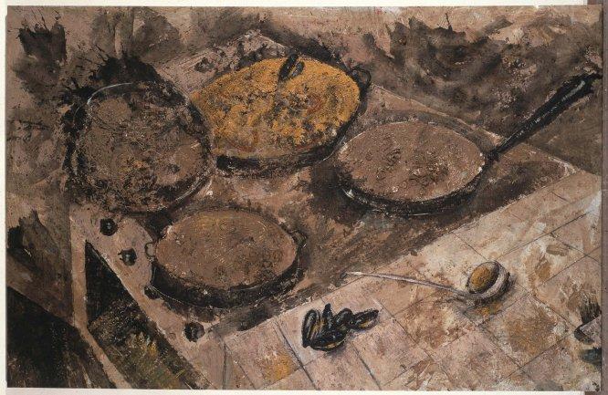 Miquel Barceló. The Big Spanish Dinner, 1985. Pintura. Colección Museo Nacional Centro de Arte Reina Sofía, Madrid
