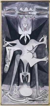 Wifredo Lam. Natividad, 1947. Pintura. Colección Museo Nacional Centro de Arte Reina Sofía, Madrid