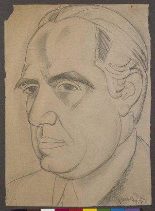 Daniel Vázquez Díaz. Eugenio D'Ors, 1926. Dibujo. Colección Museo Nacional Centro de Arte Reina Sofía, Madrid