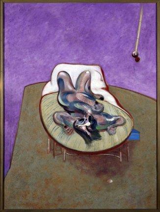Francis Bacon. Lying Figure, 1966. Painting. Museo Nacional Centro de Arte Reina Sofía Collection, Madrid