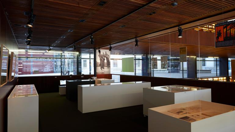 View of the exhibition Lost Modernities: Bauhaus and Spain. Museo Nacional Centro de Arte Reina Sofía, 2018