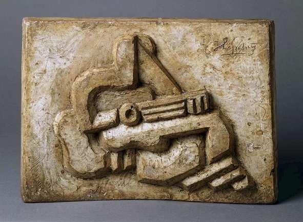 Jacques Lipchitz. Figure with Guitar, 1925. Sculpture. Museo Nacional Centro de Arte Reina Sofía Collection