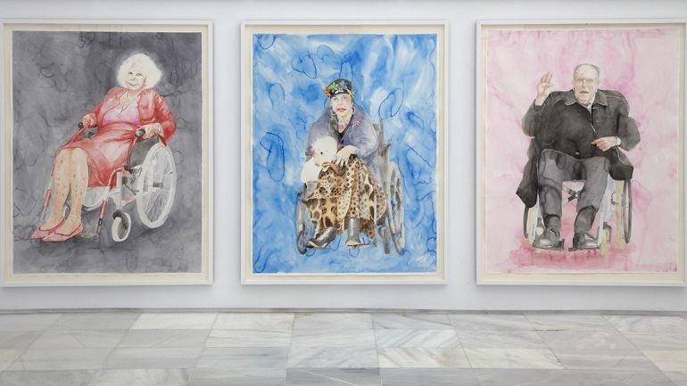 Vista de sala de la exposición. Juan Pérez Agirregoikoa. ¿Queréis un amo? ¡Lo tendréis!, 2012