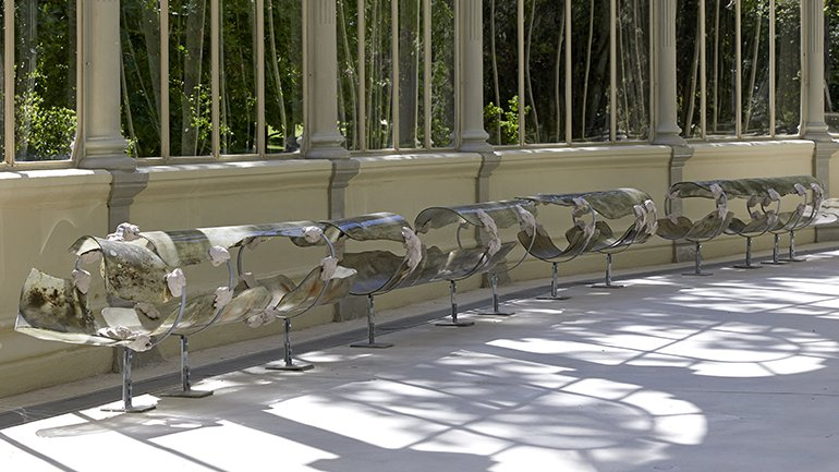 Exhibition view of Nairy Baghramian. Breathing Spell, Palacio de Cristal
