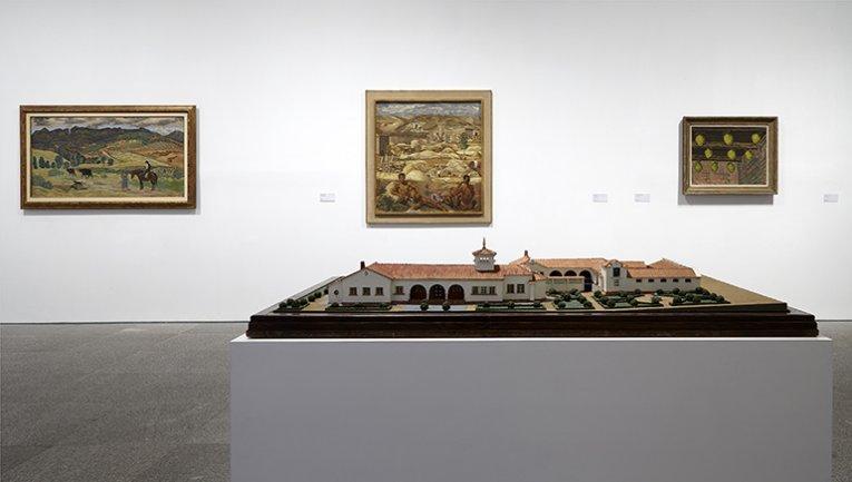 Exhibition view.  Campo Cerrado. Spanish Art 1939–1953