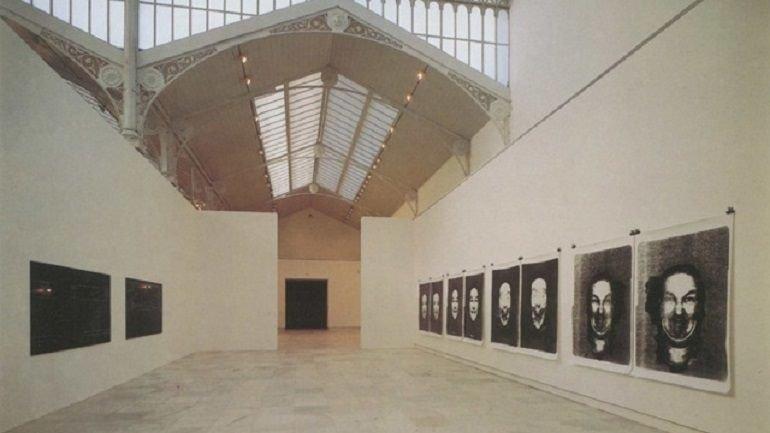 Vista de sala de la exposición Confrontaciones. Arte último británico y español, 1991