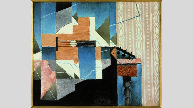 Juan Gris, La guitare sur la table [La guitarra sobre la mesa], 1913. Imagen, Cortesía de Fundación Telefónica © Fernando Maquieira