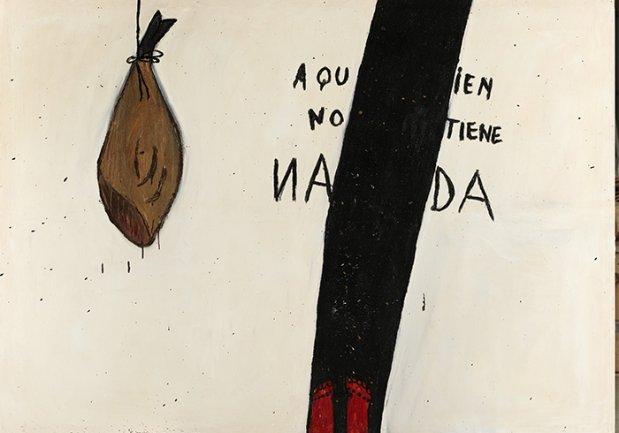 Ferran Garcia Sevilla, Tata 8, 1984. Mixed media on canvas, 195 x 270 cm. Private Collection. © VEGAP, Madrid, 2013