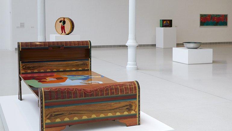 Vistas de la exposición Beatriz González