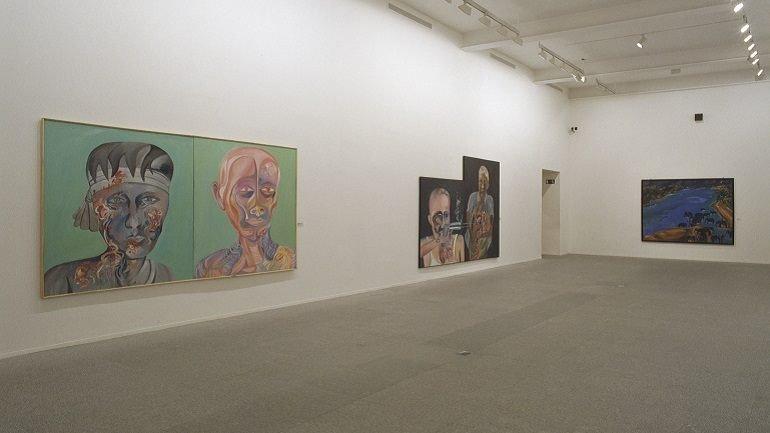 Vista de sala de la exposición. Bhupen Khakhar, 2002