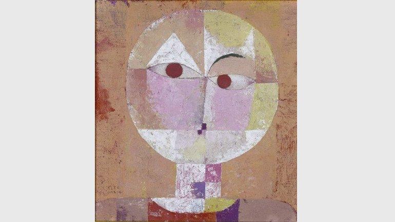Paul Klee. Senecio (Baldgreis), 1922. Óleo sobre cartón, 40.3 x 37.4 cm. Kunstmuseum Basel © Kunstmuseum Basel