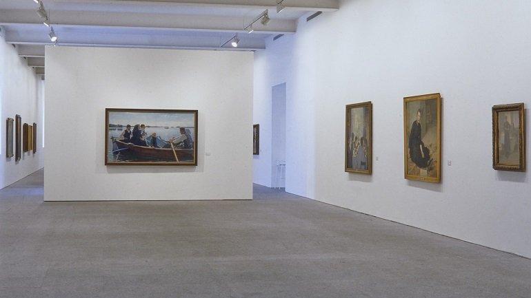 Vista de sala de la exposición. Luz del norte, 1995