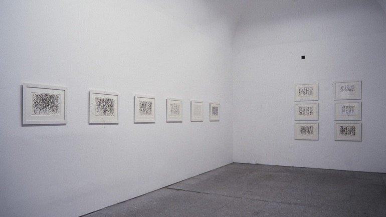 Vista de sala de la exposición. Brice Marden. Cold Mountain, 1993