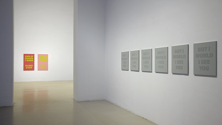 Exhibition view. Rémy Zaugg. The Question of Perception, 2016