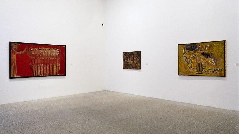 Vista de sala de la exposición. Juan Soriano. Retrospectiva. 1937-1997, 1997