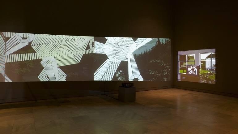 Vista de sala de la exposición Vicente Blanco. Algunas veces pasa cuando estáis dormidos, 2004