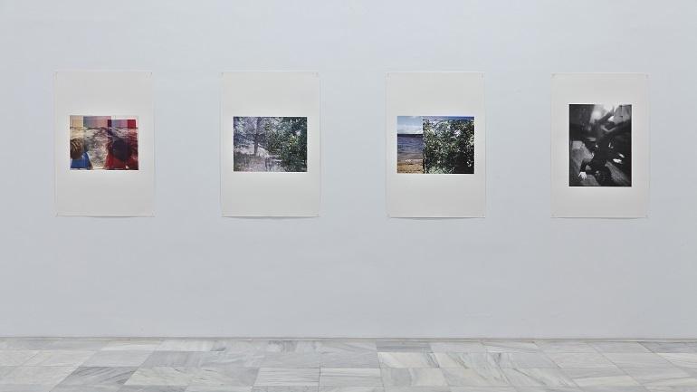 Vista de sala de la exposición Azucena Vieites. Tableau vivant, 2013