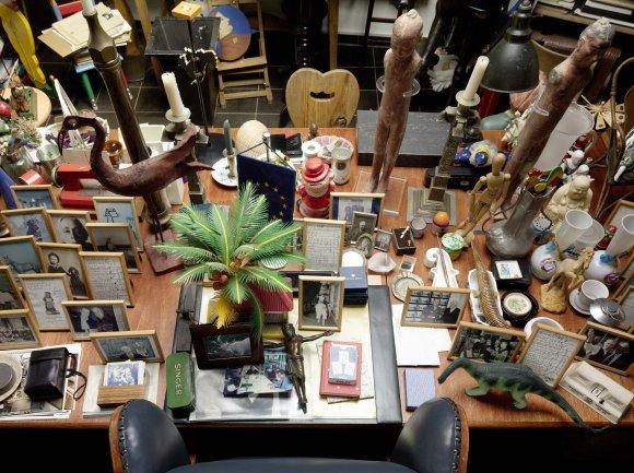 Vista del interior del estudio de Hanne Darboven. Cortesía: Hanne Darboven Foundation, Hamburgo. Foto: © Felix Krebs