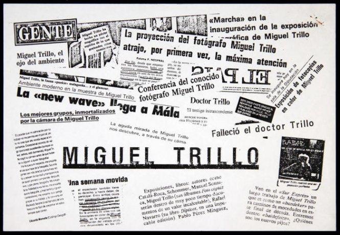 Miguel Trillo. Collage de recortes de prensa (fotocopia). Archivo Miguel Trillo. Centro de Documentación