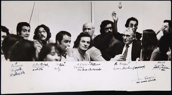 Coloquio sobre Videoarte en la Galería Vandrés (1974). Archivo Marchán/Quevedo. Centro de Documentación