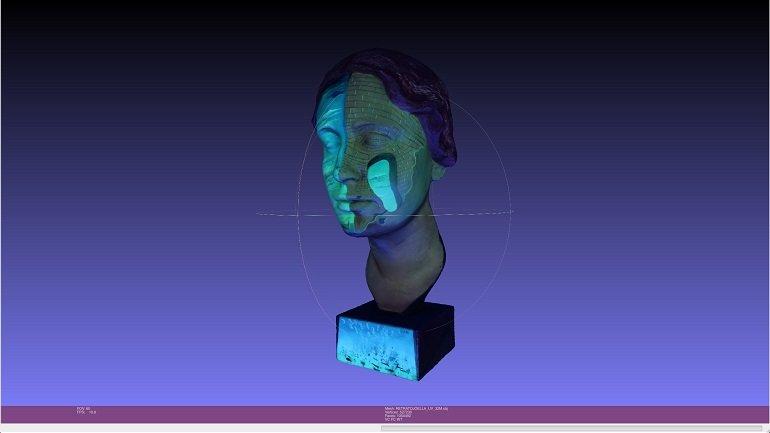 Vista 3D con luz ultravioleta