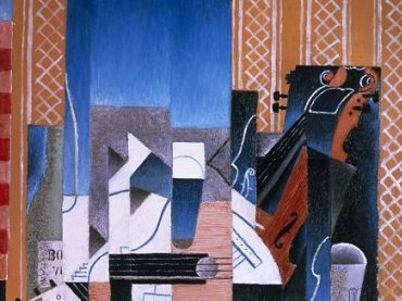 Detail of Violon et guitare (Violin and Guitar) by Juan Gris (1913)